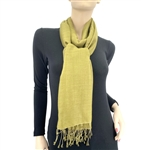 Pashmina/Silk Water Stole Olive
