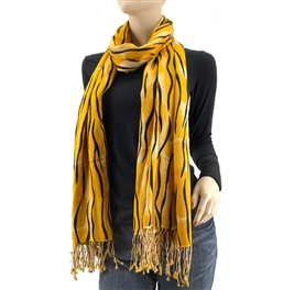 Orange Tiger Print Pashmina