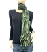 Green Zebra Animal Print Pashmina