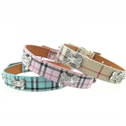 Plaid Collar Pink