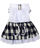 gingham country dress navy