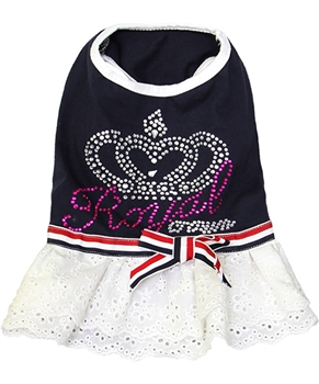 royal crown dress navy