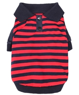 striped polo red-navy