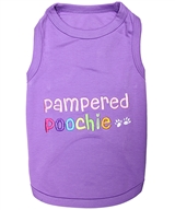pampered poochie dog shirt