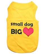 small dog big heart dog shirt