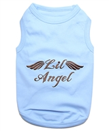 lil angel blue dog shirt