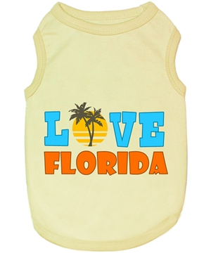 love florida dog shirt