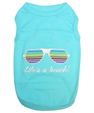 life's a beach dog shirt