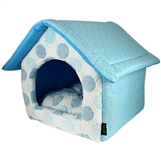 cotton candy small blue house