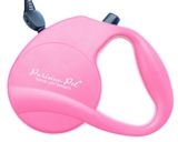 pink retractable leash