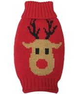 deer knit red sweater
