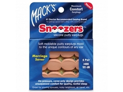 Snoozers Silicone Putty Earplugs - 6 Pair