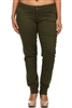 Plus Size Cotton Stretch Jeans COPB-Olive (12 pc)