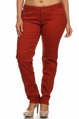 Plus Size Cotton Stretch Jeans COPB-Rust (12 pc)