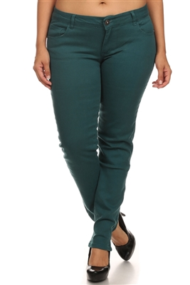 Plus Size Cotton Stretch Jeans COPB-Teal (12 pc)
