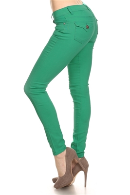 Solid Basic Pants NSP-102-Green