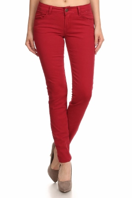 Wholesale Pants Basic 5 Pockets NSP-103 Burgundy