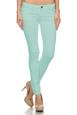Wholesale Pants Basic 5 Pockets NSP-103 Mint