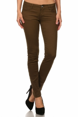Wholesale Pants Basic 5 Pockets NSP-111-Brown