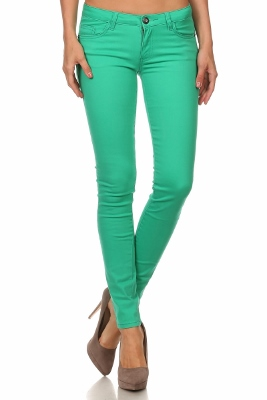 Wholesale Pants Basic 5 Pockets NSP-111-Green