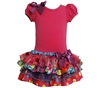 Bonnie Jean Pink Bodice / Multi Ruffle Dress Girls 4-6x