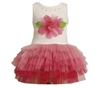 BONNIE JEAN PINK FLOWER AND GLITTER TUTU DRESS