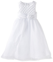 Rare Editions Girls White Lattice Bodice Ballerina Dress