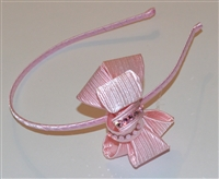 Structured bow headband with Rhinestones