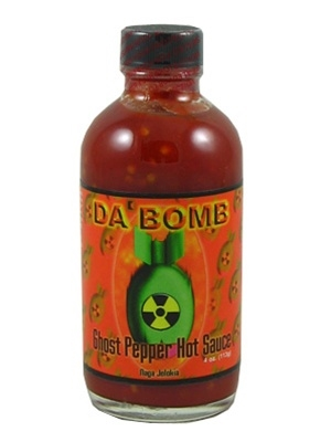 Da' Bomb Ghost Pepper Hot Sauce