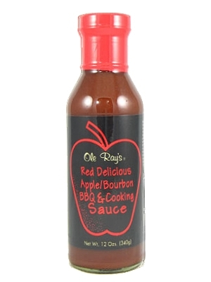 Ole Ray's Red Delicious Apple Bourbon BBQ and Cooking Sauce