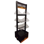 Three Shelf Standing Flame Display