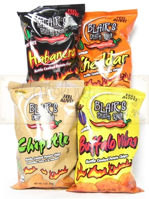 Blair's Death Rain Kettle Cooked Potato Chips (Variety Pack)