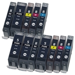 CANON COLOR BLACK INK CARTRIDGE FOR IP PRINTER PGI 5 CLI 8