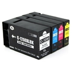 Canon PGI1200xl & CLI1200xl Compatible Set of 4 Ink Cartridges: 1 Pigment Black PGI1200xl, 1 each of CLI1200xl C/M/Y