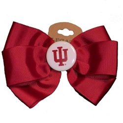 IU Crimson Hair Bow Barrette
