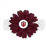 IU Crimson Flower Stretch Headband
