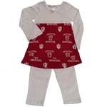 Indiana IU Toddler 2-pc Dress Legging Set by Sara Lynn Togs