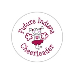 "Future Indiana Cheerleader 2.25"" Fabric Fan Button"