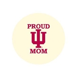 "Proud IU Mom 2.25"" Fabric Fan Button"