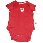 Indiana IU Girl's Infant Crimson Onesie by Sara Lynn Togs
