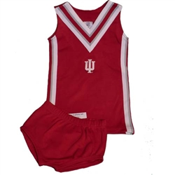 Indiana IU Toddler Cheer Dress Set by Sara Lynn Togs