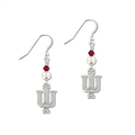 IU Sterling Silver Pearl BiCone Drop Earrings w/Swarovski Crystals