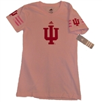 ADIDAS Pink Youth IU Fashion Jersey V-Neck T-Shirt