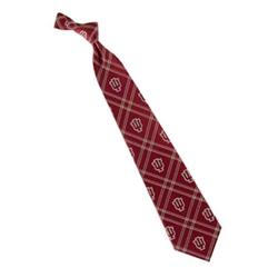 Indiana University Crimson and White IU Diamond Woven Polyester Neck Tie