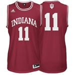 ADIDAS Crimson Men's Point Guard Basketball Tackle Twill  #11 Indiana Jersey