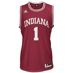 ADIDAS Crimson Men's Basketball Replica #1 Indiana Jersey