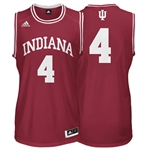 ADIDAS Crimson Men's Basketball Replica #4 Indiana Jersey