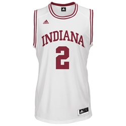 ADIDAS White Men's Basketball Replica #2 Indiana Jersey