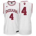 ADIDAS White Men's Basketball Replica #4 Indiana Jersey
