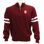 Crable IU 1/4 Zip Crimson Mens Collegiate Sweater
